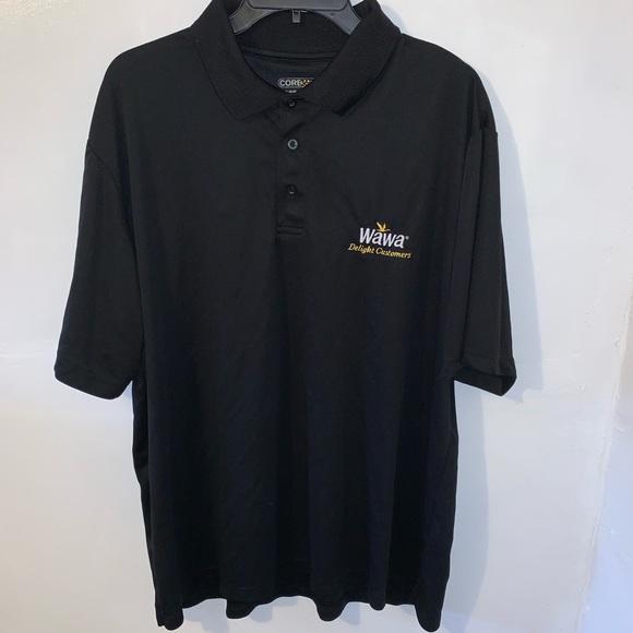 Wawa Men's Black Polo Work Shirt Size 2XL XXL
